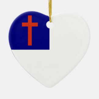 Christian Flag Heart Christmas Ornament