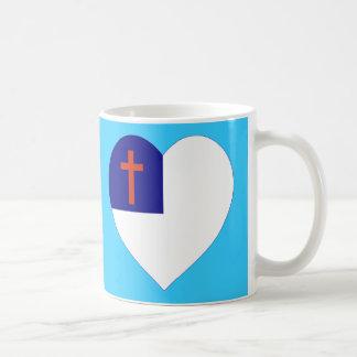 Christian Flag Heart Coffee Mug