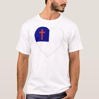 Christian Flag Heart T-Shirt