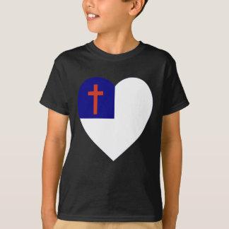 Christian Flag Heart T-shirts