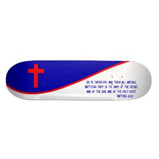 Christian Flag Inspired Skate Deck