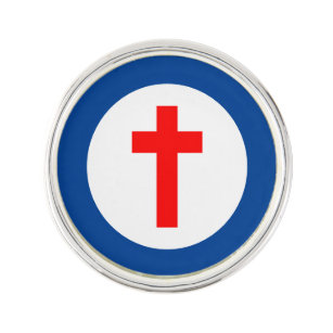 Christian Flag Roundel Lapel Pin