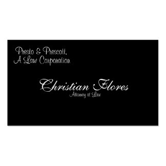 Christian Flores, Attorney at Law, Presto & Pre... Business Card Templates