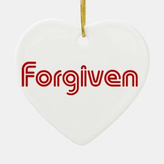 "Christian ""Forgiven"" Design Ceramic Heart Decoration"