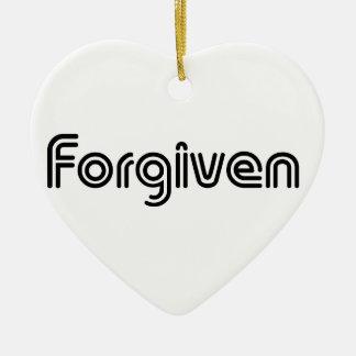 Christian Forgiven Design Ceramic Heart Decoration