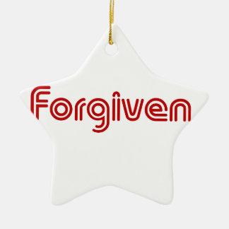 "Christian ""Forgiven"" Design Ceramic Star Decoration"