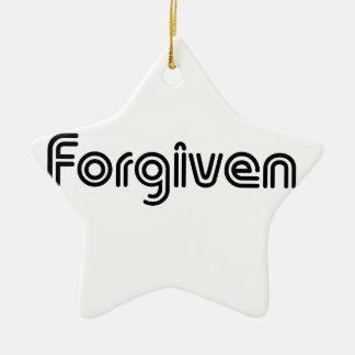 Christian Forgiven Design Ceramic Star Decoration