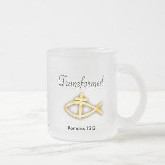 Christian Frosted Glass Coffee Mug