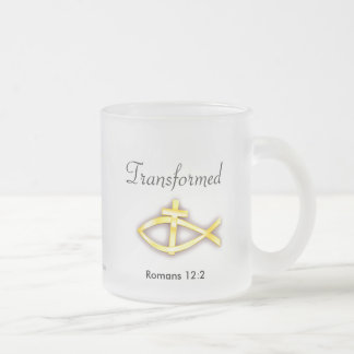 Christian Frosted Glass Mug