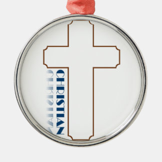 Christian Gifts Round Metal Christmas Ornament