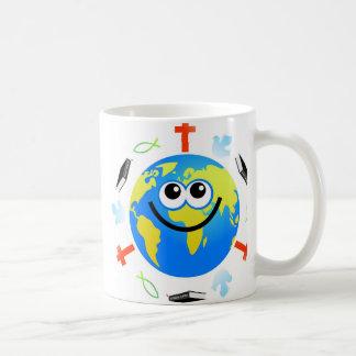 Christian Globe Coffee Mugs