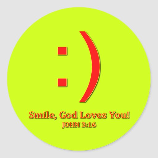 Christian God Love's You Stickers