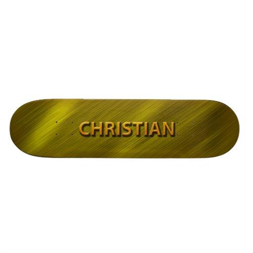christian gold custom skateboard deck