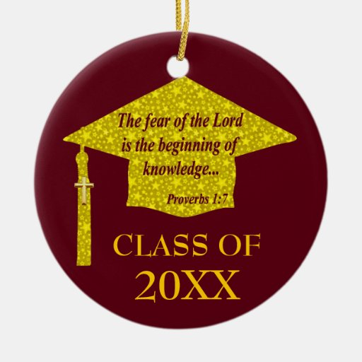 Christian Graduate Christmas Tree Ornaments