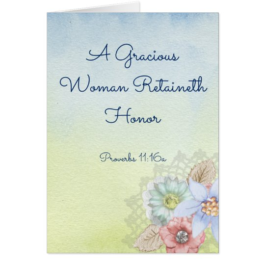 Christian Greeting Card for Mother, Wife, Sister