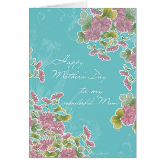 Christian Happy Mother s Day chrysanthemum Card