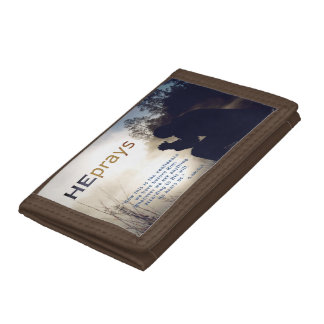 Christian HE PRAYS Tri-fold Wallets