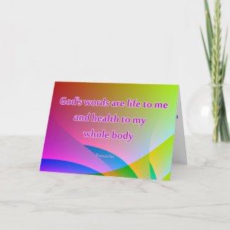 Christian Healing Greetings Card Get Well
