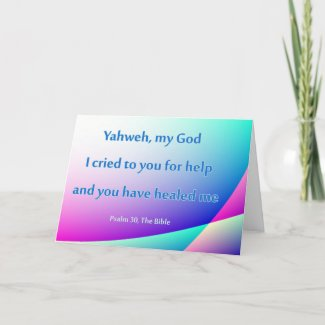 Christian Healing Quote Card Get Well