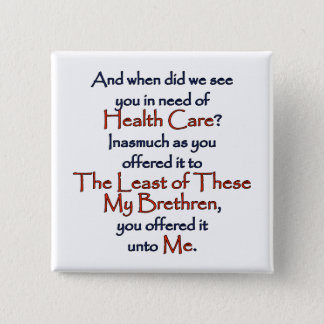Christian Health Care 15 Cm Square Badge