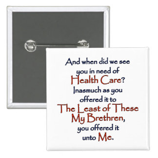 Christian Health Care 15 Cm Square Badge