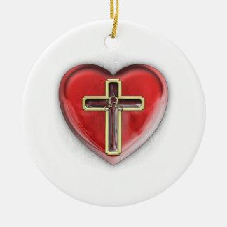 Christian Heart Christmas Ornaments