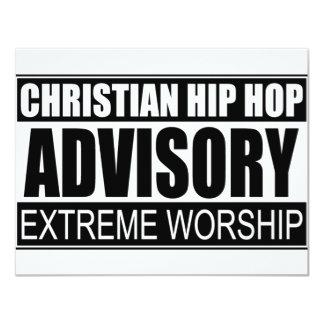 "Christian Hip Hop Advisory... 4.25"" X 5.5"" Invitation Card"