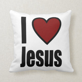 Christian I Love Jesus Custom Gift Cushion