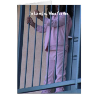 Christian Inmate Card with Gospel message inside