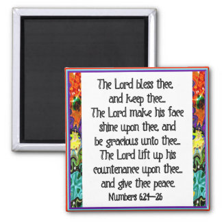 Christian Inspiration Bible Verse Square Magnet