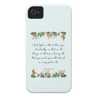 Christian inspirational Art - 2 Corinthians 9:8 iPhone 4 Case