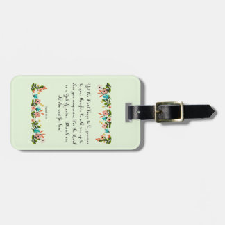 Christian inspirational Art - Isaiah 30:18 Luggage Tag