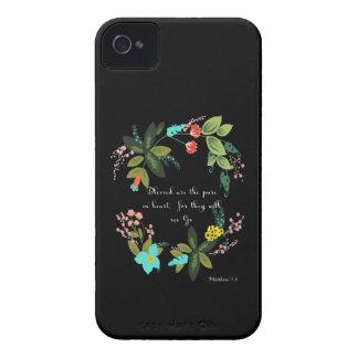Christian inspirational Art - Matthew 5:8 iPhone 4 Case
