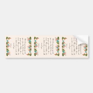 Christian inspirational Art - Matthew 6:6 Bumper Sticker