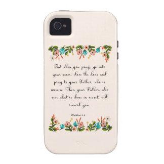 Christian inspirational Art - Matthew 6:6 iPhone 4 Cases