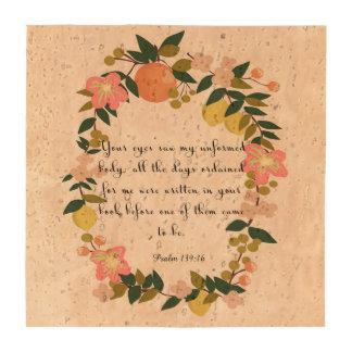Christian inspirational Art - Psalm 139:16 Coaster