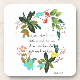 Christian inspirational Art - Psalm 3:3 Beverage Coasters
