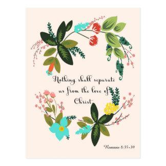 Christian inspirational Art - Romans 8:35-39 Postcard