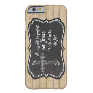 Christian Inspirational Jesus Cross Chalkboard Barely There iPhone 6 Case