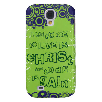 Christian iPhone 3g case: To live is Christ Galaxy S4 Case