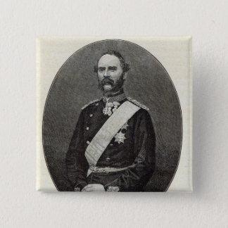Christian IX, King of Denmark 15 Cm Square Badge