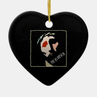 Christian Jesus Christ He is Risen Religious Ceramic Heart Decoration