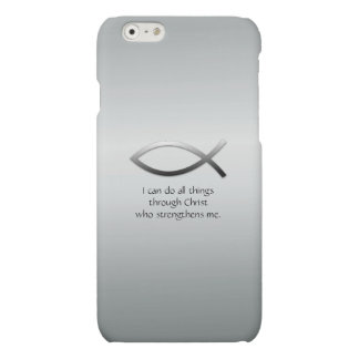 Christian Jesus Fish With Your Custom Bible Verse iPhone 6 Plus Case