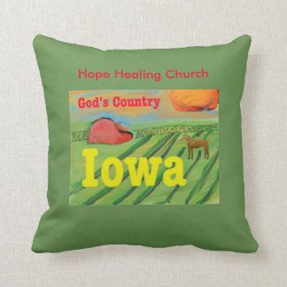 Christian Jesus Iowa Farm Scene Throw Pillow