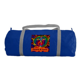 Christian Jesus Saves Peace Love Duffle Gym Bag