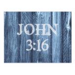 Christian John 3:16 Bible Verse Postcards