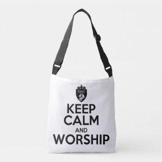 Christian KEEP CALM AND WORSHIP Cross Body Bag