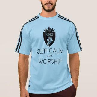 Christian KEEP CALM AND WORSHIP Men's T-Shirt