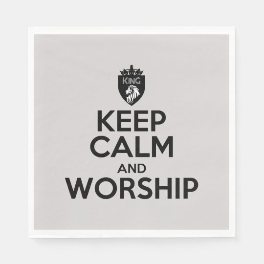 Christian KEEP CALM AND WORSHIP Napkins Disposable Serviettes