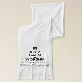 Christian KEEP CALM AND WORSHIP Prayer Scarf